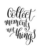 Rassemblez les choses de moments pas, expression de Word illustration stock