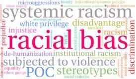 Rassen Bias Word Wolk vector illustratie