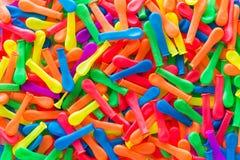 Rassenbarrière ballons van divers Stock Afbeeldingen