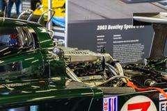 Rassengruppe C Bentley der klassischen Ausdauer in der montjuic Geist Barcelona-Stromkreisautoshow lizenzfreie stockfotografie