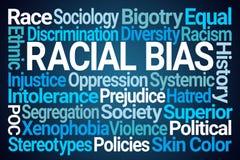 Rassische schräge Wort-Wolke lizenzfreie abbildung