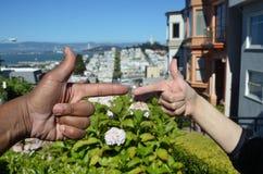 Rassische Verschiedenartigkeit über San Francisco Bay Stockfotografie