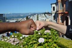 Rassische Verschiedenartigkeit über San Francisco Bay Stockbilder
