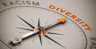 Rassismus gegen Verschiedenartigkeit stock abbildung