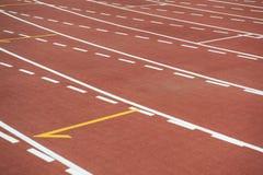 Rasspoor bij stadion Royalty-vrije Stock Foto