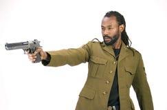 rasta чернокожего человек армии Стоковые Изображения RF