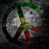 和平标志rasta被构造的难看的东西背景 库存照片