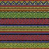 Rasta aztec pattern. Bright multi colored seamless knitted aztec pattern Stock Photo