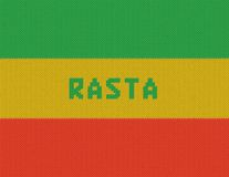 Rasta Background. Wicker rasta flag. Royalty Free Stock Photo