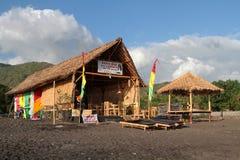 Rasta-Bar auf dem Strand Lizenzfreies Stockfoto