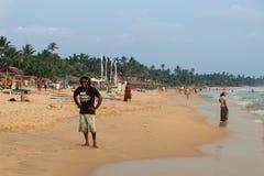 Rasta Beach Worker Stock Images