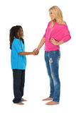 Rasta boy shaking hands with his friend Stock Photos