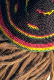Rasta cap and dreadlocks stock photography