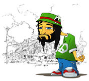 Rasta character. Stock Images