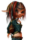 Rasta girl with pigtails. 3d render of a rasta girl with pigtails Royalty Free Stock Photography