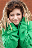 Rasta girl smiling Royalty Free Stock Photography