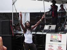 Rasta Guy Rastafarian. Rastafarian at the  Newport reggae festival in Newport rhode island Stock Photos