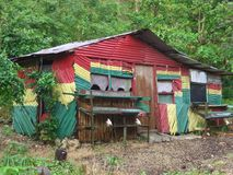 Rasta Hut. Rastafarian House, This photograph was taken in Port Antonio, north-east Jamaica. Many films were shot in this area including Blue Lagoon with Brooke Royalty Free Stock Image