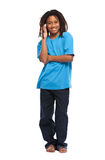 Rasta kid making a call Stock Photos
