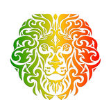 Rasta lion vector. Rasta theme with lion head on a white background. Vector illustration. Wallpaper in Rastafarian background colors Royalty Free Stock Image