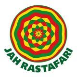 Rasta logo in rastafarian colours. Round shape, vector illustration vector illustration