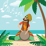 Rasta man playing Royalty Free Stock Images
