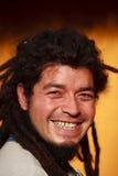 Rasta Man Smiling Stock Photo