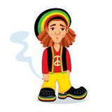 Rasta med en skarv stock illustrationer