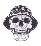Rasta Skull in Hat Stock Photos