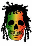 Rasta skull Royalty Free Stock Images