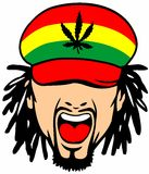 Rasta. Style fashionable mascot  photo image Royalty Free Stock Images