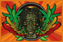 Rasta Tiki Stock Photo