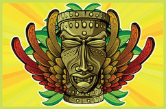 Rasta Tiki Plain Stock Photos