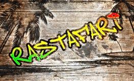 Rastafari graffiti Royalty Free Stock Photo