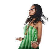 rastafarian的女孩 免版税图库摄影