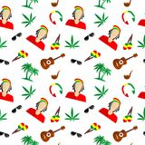 The Rastafarian background Stock Photography