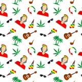 The Rastafarian background Stock Photography