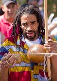 Rastafarian brazilian capoeira singer Royalty Free Stock Image