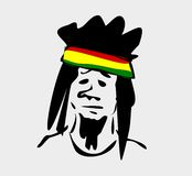 Rastafarian with dreadlocks Royalty Free Stock Images