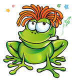 Rasta frog cartoon Stock Photography