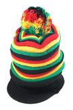 Rastafarian hat isolated on white background Stock Image