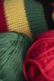 Rastafarian hat and wool Stock Photo