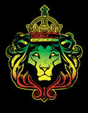 Rastafarian Lion. A Rastafarian Lion of Judah graphic with reggae colors Stock Photography