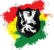 Rastafarian lion shield Stock Photo