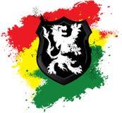 Rastafarian lion shield Stock Photo