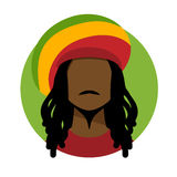 Rastafarian man royalty free illustration