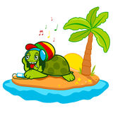 Rastafarian-Meeresschildkröte stock abbildung