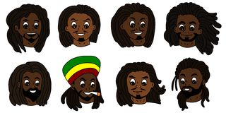 Rastafarian men faces royalty free stock images