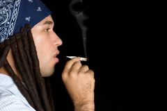 Rastafarian Smoking Royalty Free Stock Photography