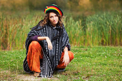 Rastafarian woman outdoor Stock Photography